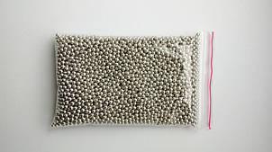 Посыпка кондитерская Бусы серебро, 2 мм