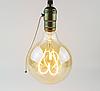 """Лампа Эдисона светодиодная G95 4W шар диммируемая """"сердце"""""""
