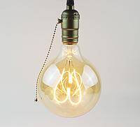 """Лампа Эдисона светодиодная G95 4W шар диммируемая """"сердце"""", фото 1"""