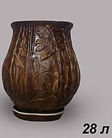 Горшок цветочный керамический Бамбук 28 л