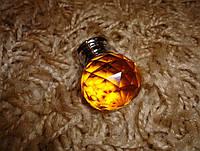 Мебельная ручка шарик оранж под Swarovski 30мм