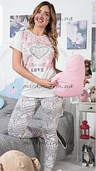 Женская пижама брюки и футболка весна 2018
