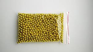 Посыпка кондитерская Бусы золотые, 3 мм