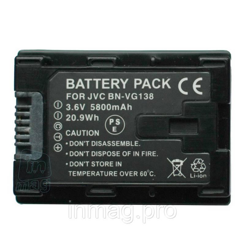Аккумулятор для видеокамеры JVC BN-VG138, 5850 mAh.