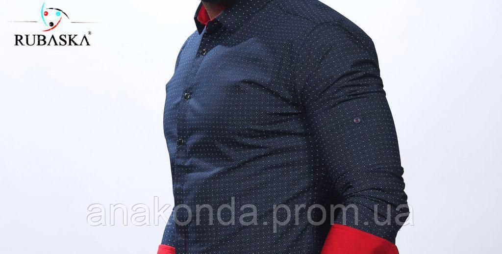 ef33929bad5 Мужская рубашка приталенная рукав отворот  продажа