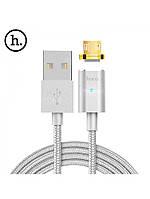 Кабель для телефона магнитный Hoco U16 Magnetic Adsorbtionn Lightning Micro-USB золотой