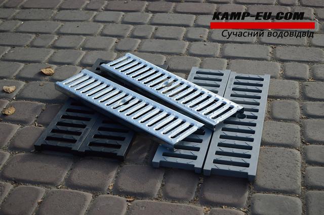Пластиковые и стальные решетки к водоотводным желобам