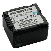 Аккумулятор для Panasonic VW-VBG070, Li-ion, 800 mAh