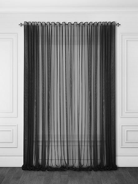Французкий гипюр Черный, готовая тюль 3м