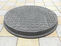 Люк канализационный полимерпесчанный пешеходный черный, фото 1