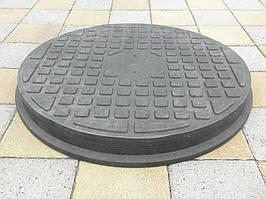 Люк канализационный полимерпесчаный пешеходный черный