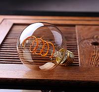 """Лампа Эдисона светодиодная G95 4W шар диммируемая """"спираль"""""""