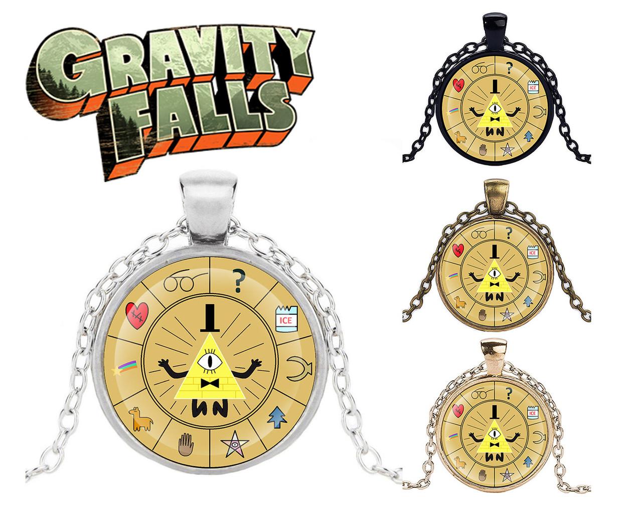 Подвеска стеклянная Gravity Falls Гравити Фолз колесо Билла цветное