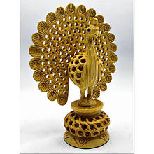 Статуэтка Павлин из дерева