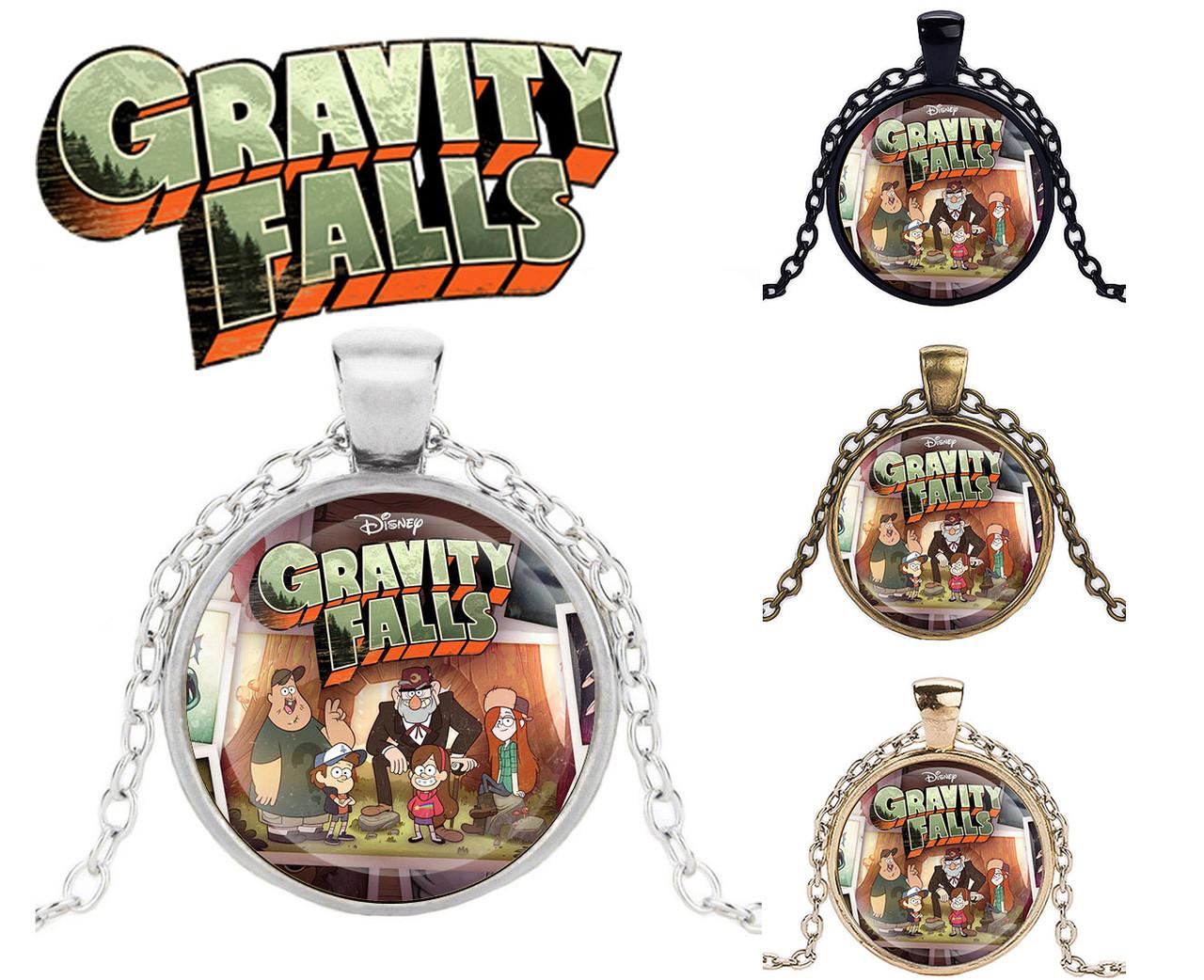 Подвеска стеклянная Gravity Falls Гравити Фолз лого
