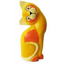 Статуэтка деревянная Кошка
