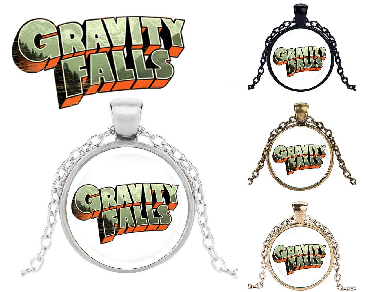 Подвеска стеклянная Gravity Falls Гравити Фолз минималистичный