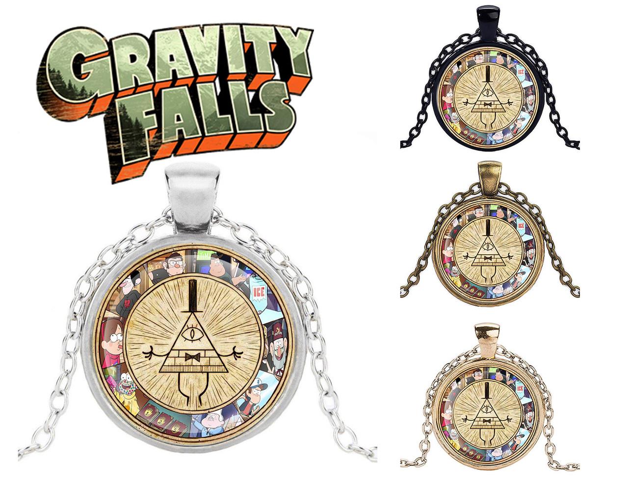 Подвеска стеклянная Gravity Falls Гравити Фолз Колесо Билла яркое