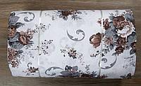 Ткань ранфорс Турция Paula кофе 85642 (220 ширина)