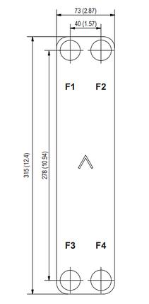 """Теплообменник паяный SWEP E8Tx24/1P-SC-S 4*3/4"""", фото 2"""