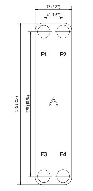 """Теплообменник паяный SWEP ВХ8Tx10/1P-SC-S (4*3/4""""&16)"""