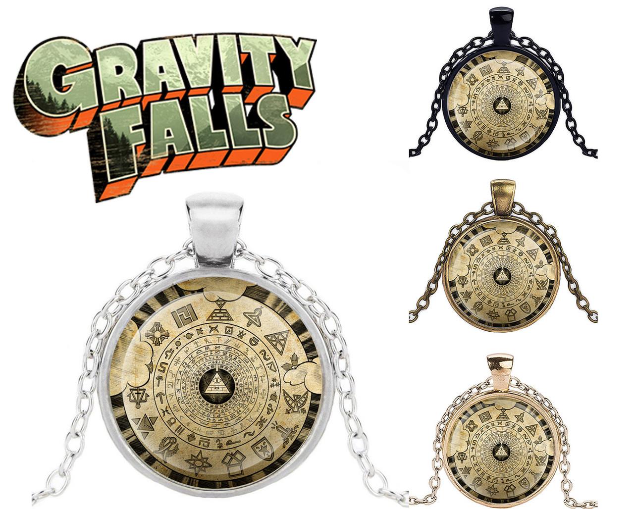 Подвеска стеклянная Gravity Falls Гравити Фолз со стилизованным колесом Билла