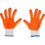 Перчатки с оранжевым обливом 22 г