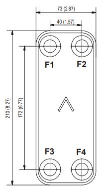 """Паяний теплообмінник SWEP E6Tx30/1P-SC-S 4*3/4"""", фото 2"""