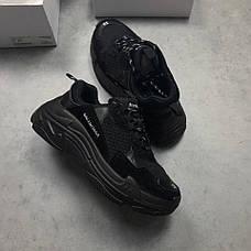 Мужские кроссовки в стиле Balenciaga Triple S Trainers Black Черный, фото 3