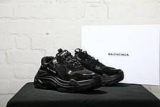 Мужские кроссовки в стиле Balenciaga Triple S Trainers Black Черный, фото 2