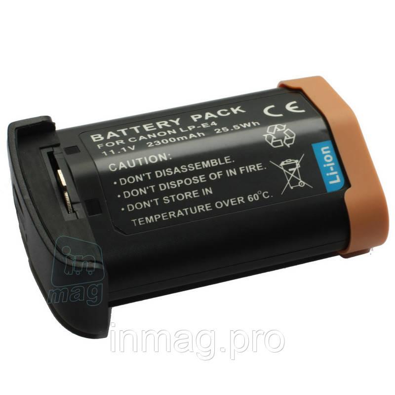 Аккумулятор для фотоаппарата Canon LP-E4, 2300 mAh.