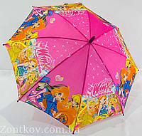 """Детский зонт трость """"Winx club"""" на 5-9 лет от фирмы """"Good Luck"""""""