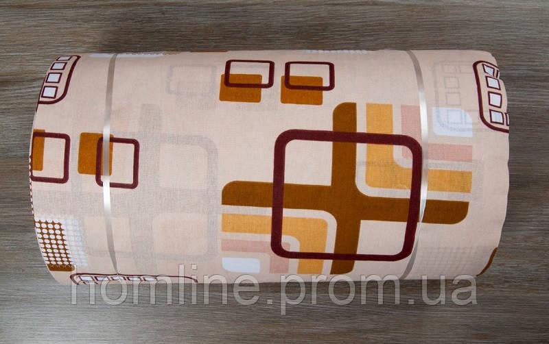 Ткань ранфорс Турция Geometry персик 6073 (220 ширина)