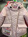 """Детская демисезонная куртка на девочку """"Совушки"""". Размеры 26 -32, фото 2"""