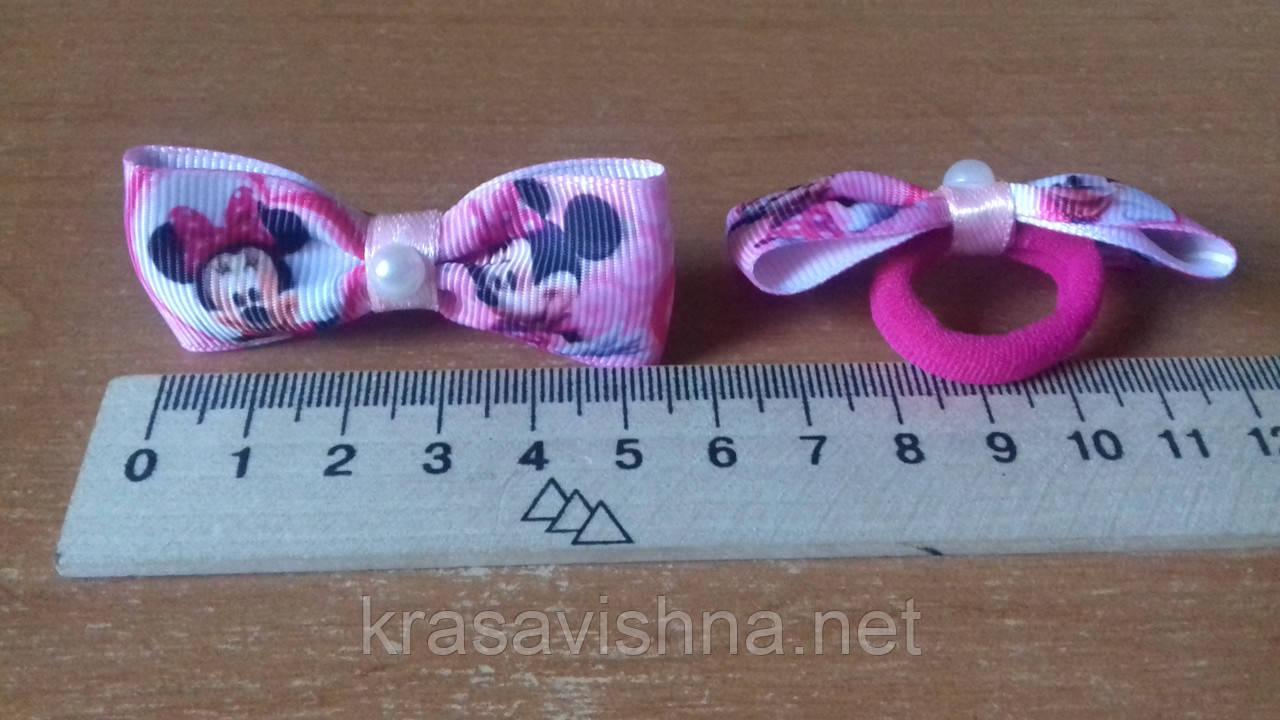 Бантик маленький Минни Маус розовый