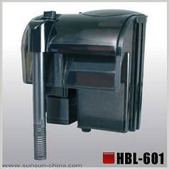 Фильтр навесной, SunSun HBL-601 II (для аквариума 80-100 л)