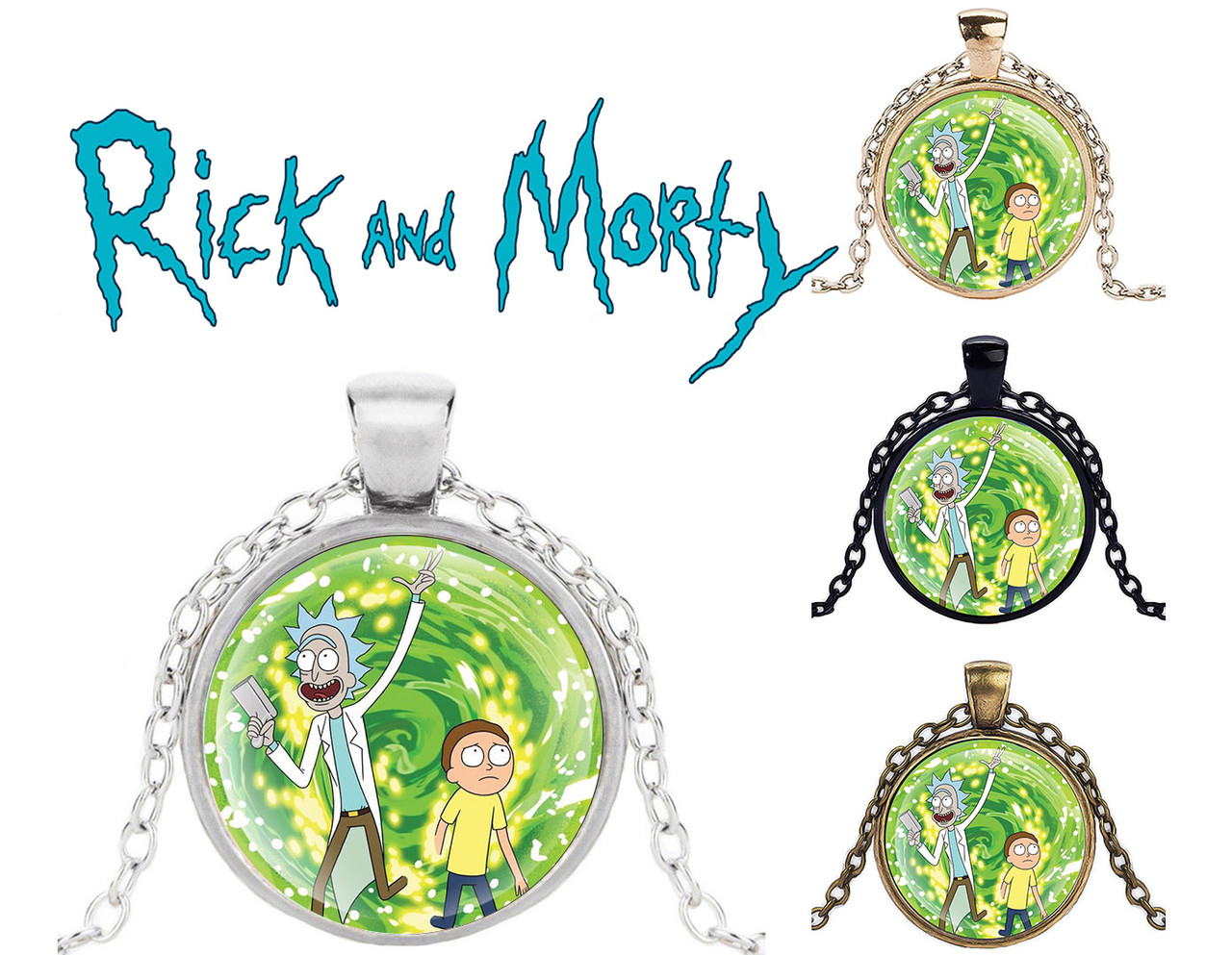 Кулон Rick and Morty Рик и Морти