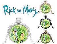 Подвеска стеклянная Rick and Morty Рик и Морти