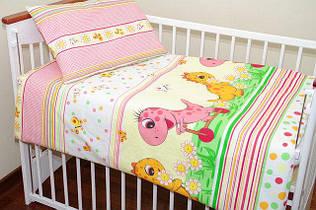 Комплекты постельного белья в детскую кроватку (большой пододеяльник)