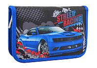 Пенал итвердый  книжка Street racing 1 вересня с 2мя отворотами
