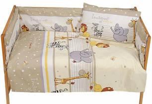 Наборы постельного белья в детскую кроватку 6 предметов