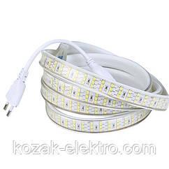 Лента светодиодная GANJ  IP 65  28x35smd трехрядная 220 Вольт