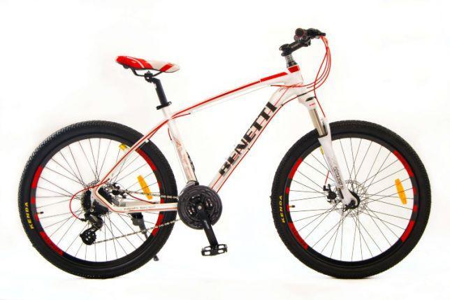 """Горный велосипед BENETTI ALTO 26"""" 18""""  Белый/Красный"""