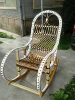 """Кресло-качалка """"Ротанг"""" белая"""