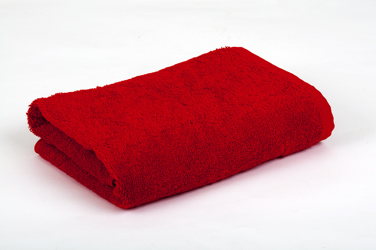 Полотенце махровое 40х70см Красный 420гр Lotus