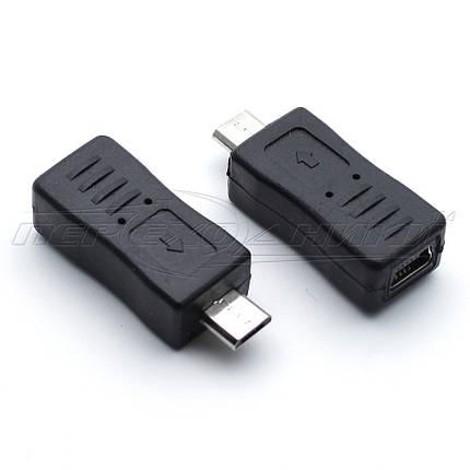 Переходник USB 2.0 micro AМ - mini AF, фото 2
