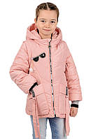 Весенняя куртка жилетка  для девочек  Глазки