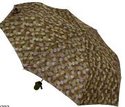Женский складной зонт полуавтомат (хаки)