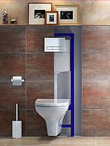Комплект инсталляции Cersanit SLIM&SILENT + унитаз CARINA Clean on + Кнопка Adria хром мат, фото 2