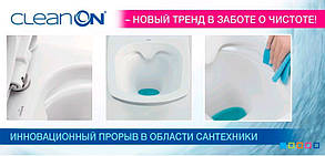 Комплект инсталляции Cersanit SLIM&SILENT + унитаз CARINA Clean on + Кнопка Adria хром мат, фото 3